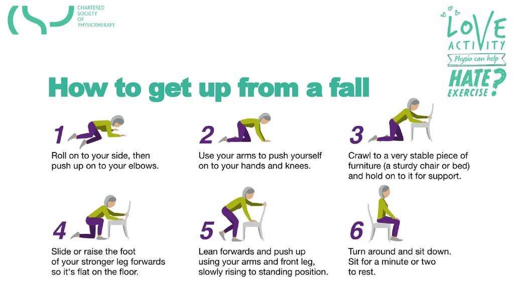 How to get up from a fall