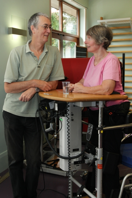 Standing frame intervention improves life for people with